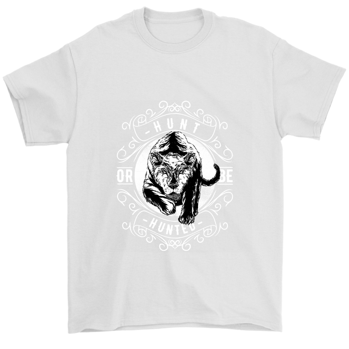 Gildan Mens T-Shirt - Hunt or Be Hunted - Black and White Version, T-shirt, pyaonline