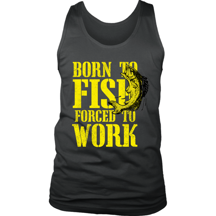 District Mens Tank Top - Born to Fish, T-shirt, pyaonline