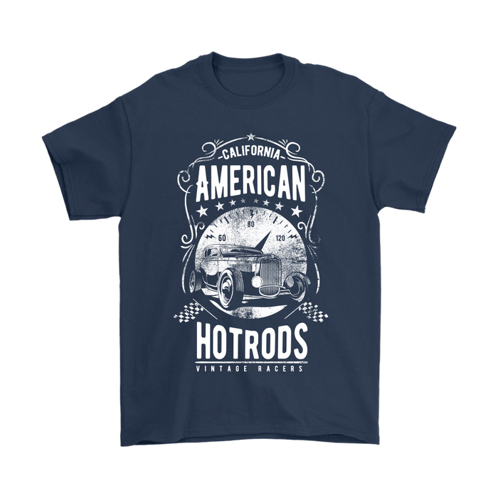 Gildan Mens T-Shirt - California American Hot Rods - Vintage Racers, T-shirt, pyaonline