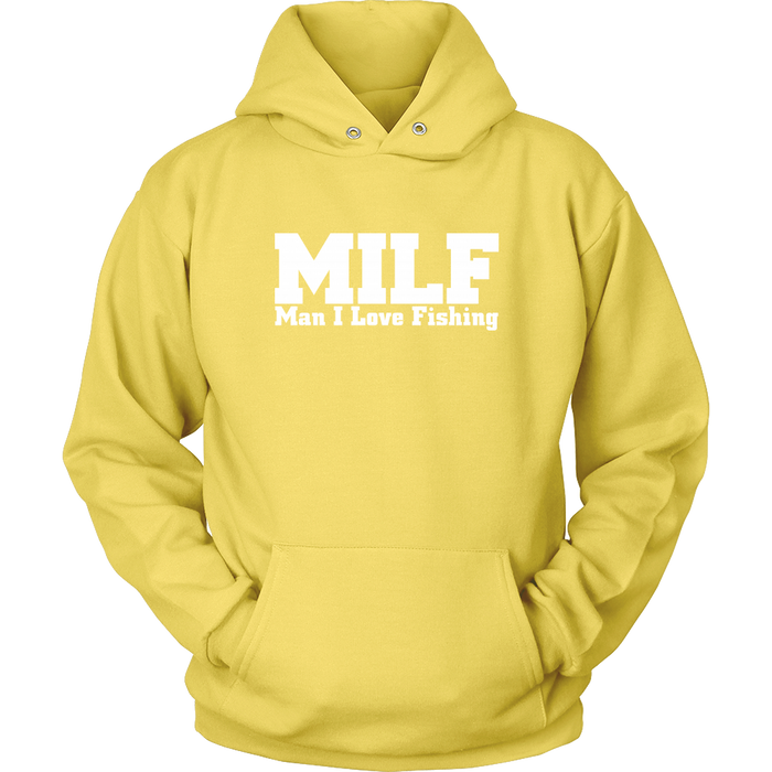 Man I Love Fishing Hooded Sweatshirt, T-shirt, Personally Yours Accessories