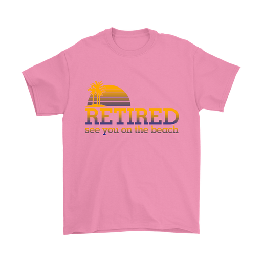 Mens T-Shirt - Retired - See you at the Beach, T-shirt, Personally Yours Accessories