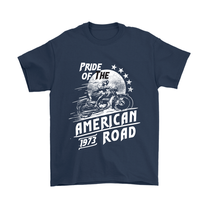 Mens T-Shirt - Pride of the American Road - 1973, T-shirt, Personally Yours Accessories