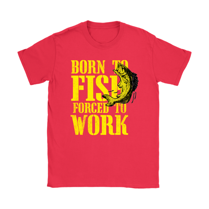 Gildan Womens T-Shirt - Born to Fish, T-shirt, pyaonline