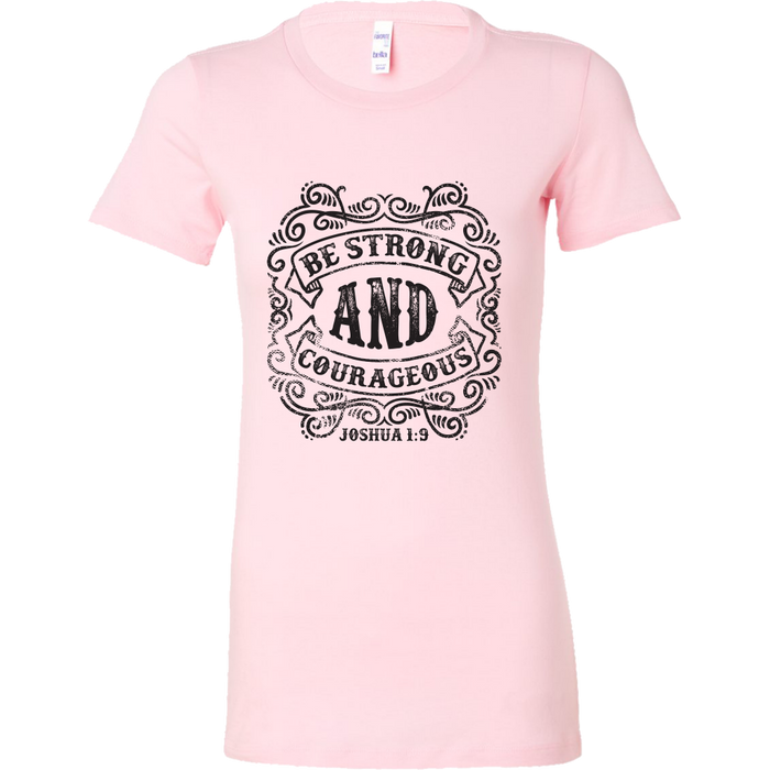 Bella Womens Shirt - Be Strong And Courageous, T-shirt, Personally Yours Accessories