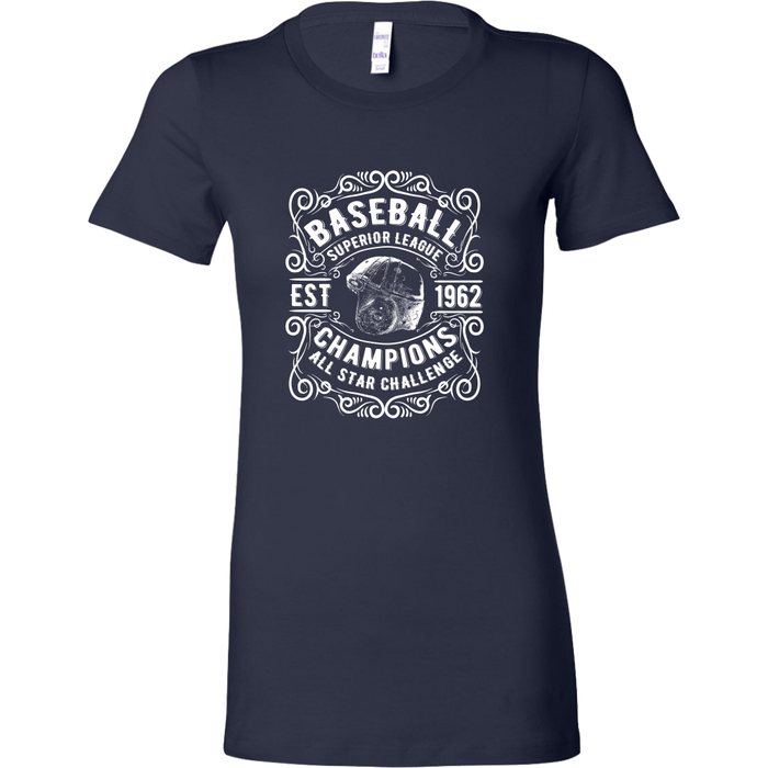 Bella Womens Shirt - Baseball Superior League, T-shirt, Personally Yours Accessories