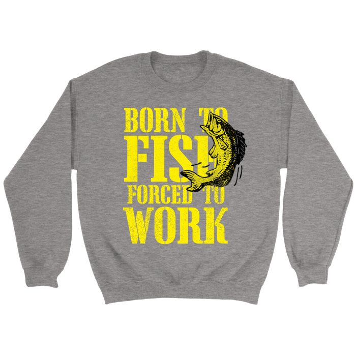 Crewneck Sweatshirt - Born to Fish, T-shirt, Personally Yours Accessories