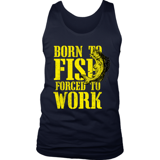 District Mens Tank Top - Born to Fish, T-shirt, Personally Yours Accessories
