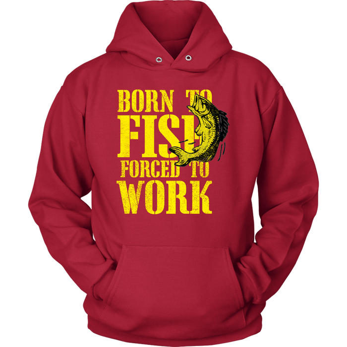 Unisex Hoodie Sweatshirt - Born to Fish, T-shirt, Personally Yours Accessories