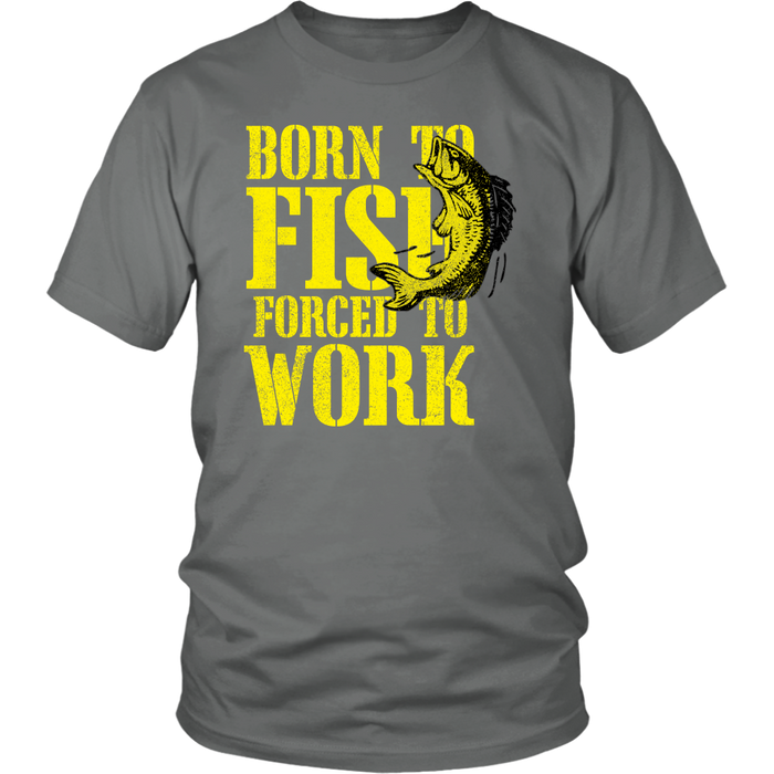 District Unisex T-Shirt - Born to Fish, T-shirt, pyaonline