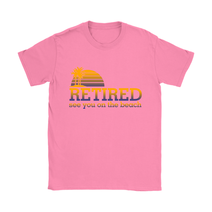 Gildan Womens T-Shirt - Retired - See you at the Beach, T-shirt, pyaonline