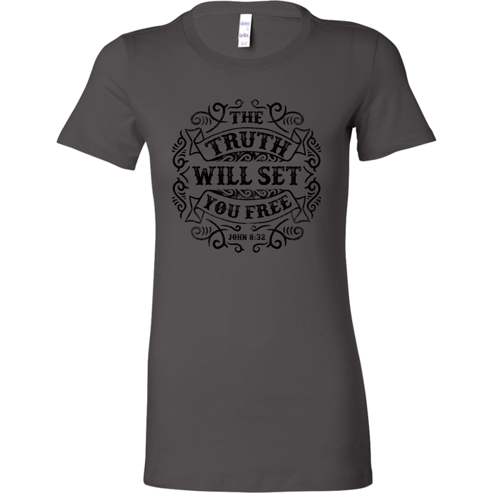Bella Womens Shirt - The Truth will Set you Free, T-shirt, Personally Yours Accessories