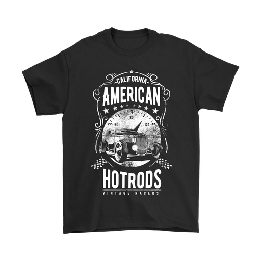 Mens T-Shirt - California American Hot Rods - Vintage Racers, T-shirt, Personally Yours Accessories