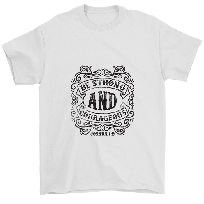 Gildan Mens T-Shirt - Be Strong And Courageous, T-shirt, pyaonline