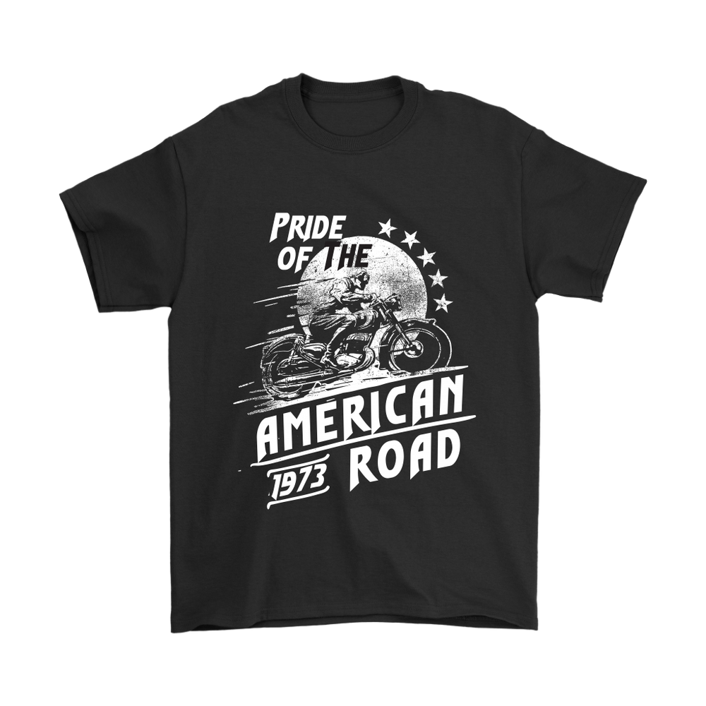 Gildan Mens T-Shirt - Pride of the American Road - 1973, T-shirt, pyaonline