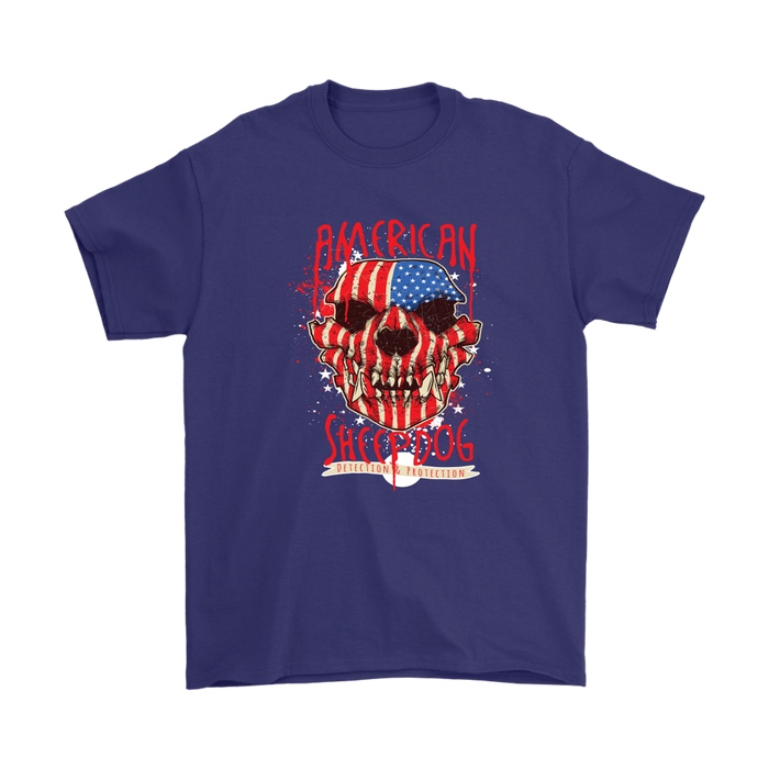 Mens T-Shirt - American Sheepdog - US Flag, T-shirt, Personally Yours Accessories