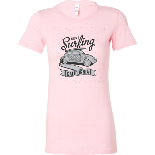 Bella Womens Shirt - Best Surfing - California - B/W, T-shirt, Personally Yours Accessories