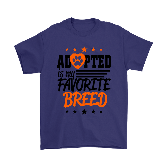 Gildan - Adopted is my Favorite Breed, T-shirt, pyaonline