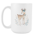 White 15oz Mug - Christmas - Ms. Bambi, Drinkware, Personally Yours Accessories