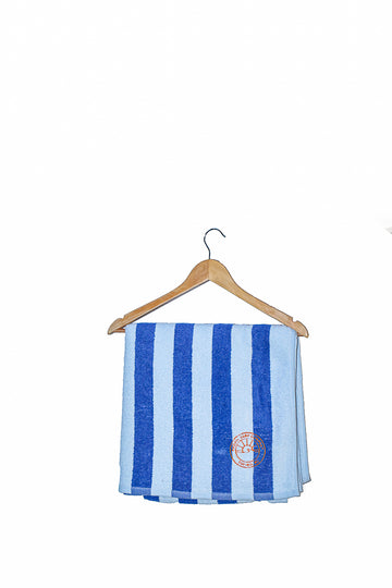 Surf Beach Towel / Blue + White Stripe