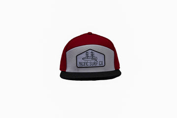 Tradesman Hat / Red, White, + Black