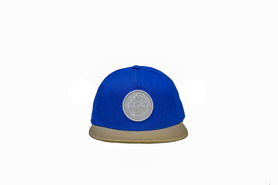 SUN PATCH HAT / BLUE + YELLOW