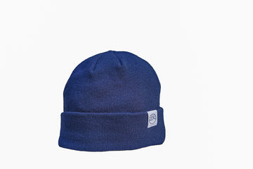 FLEECE LINED CUFFED TOQUE / BLUE