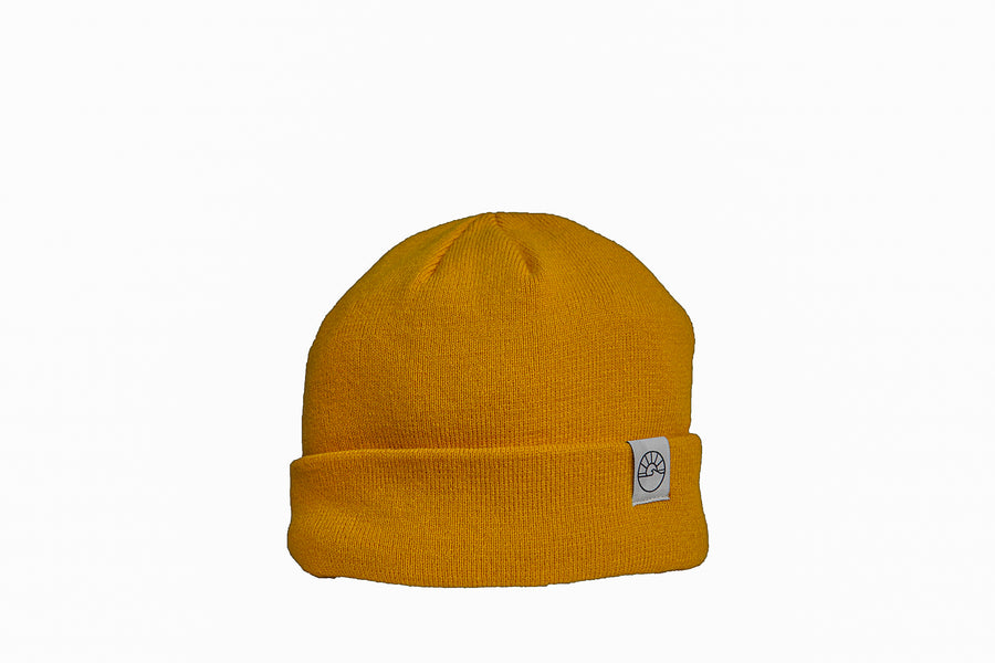 FLEECE LINED CUFFED TOQUE / GOLD