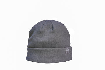 FLEECE LINED CUFFED TOQUE / GREY