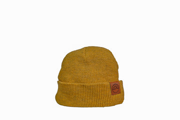 Wide Rib Toque / Heather Gold