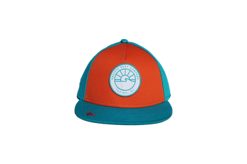 KIDS FIT / SUN PATCH HAT / TEAL & ORANGE
