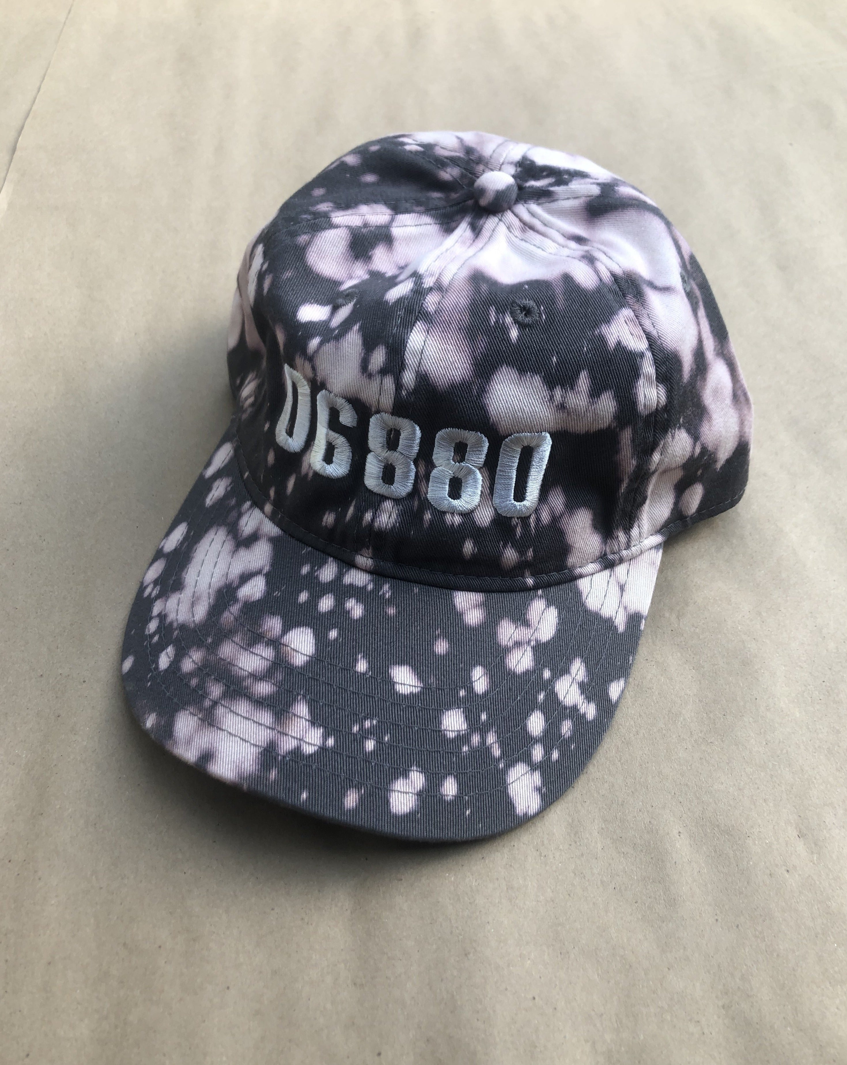 Tie Dye Post Code Embroidered Cap