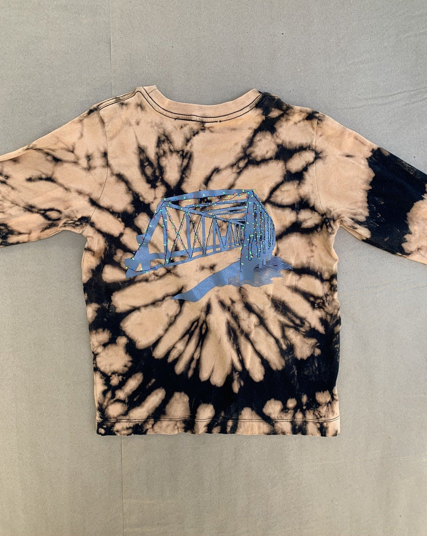 Tie Dye Saugatuck Lights Youth Long Sleeve Tee