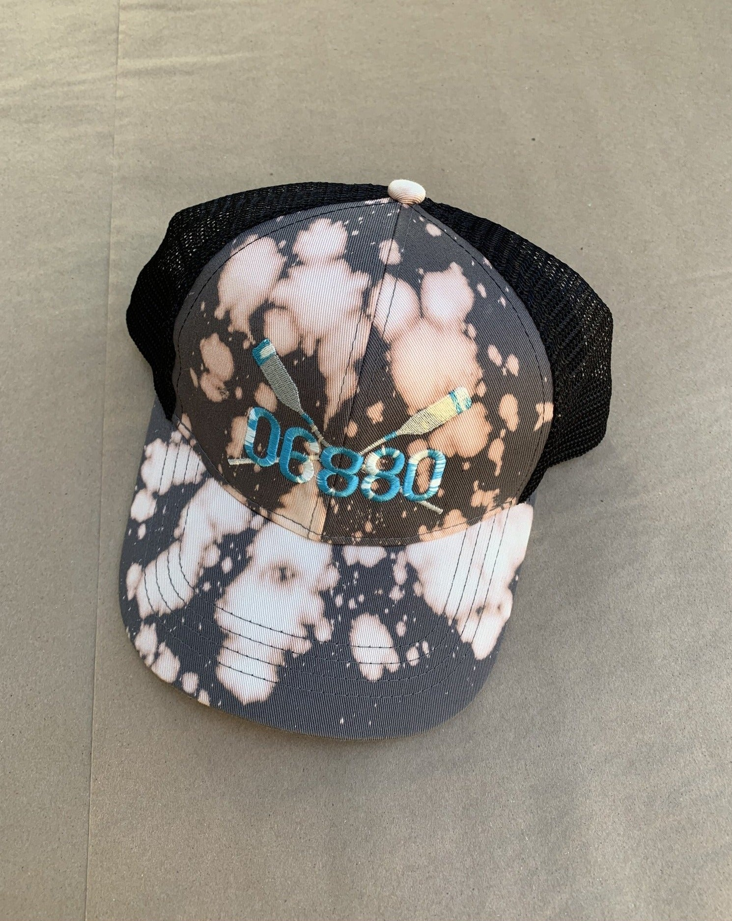 Tie Dye Coxswain Embroidered Trucker Cap