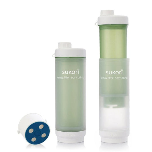 water filter bottle. Sukori Portable Water Filter Bottle * Bpa-free 470ml Latest AG+ Activated Carbon