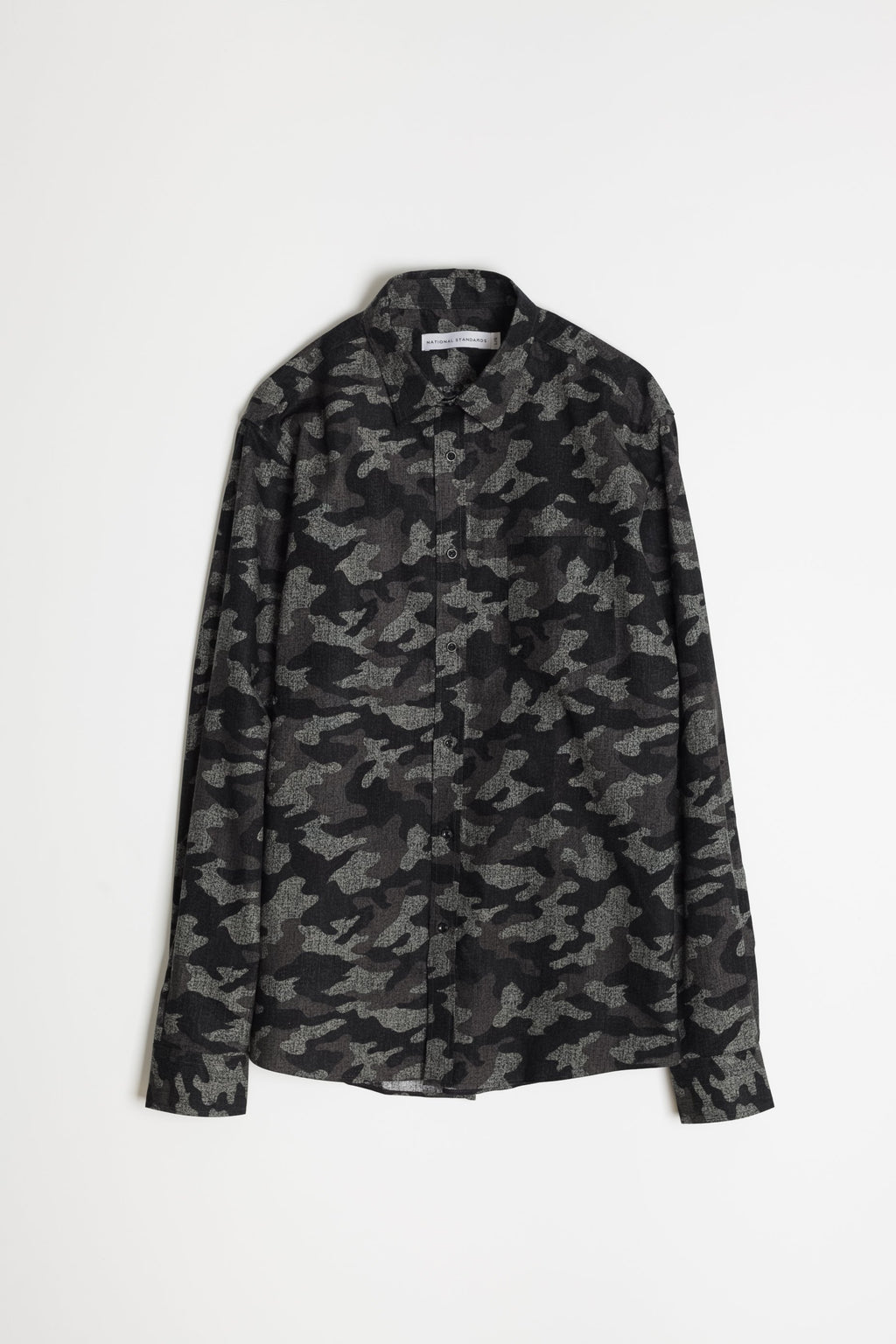 Japanese Camouflage Print in Grey 05
