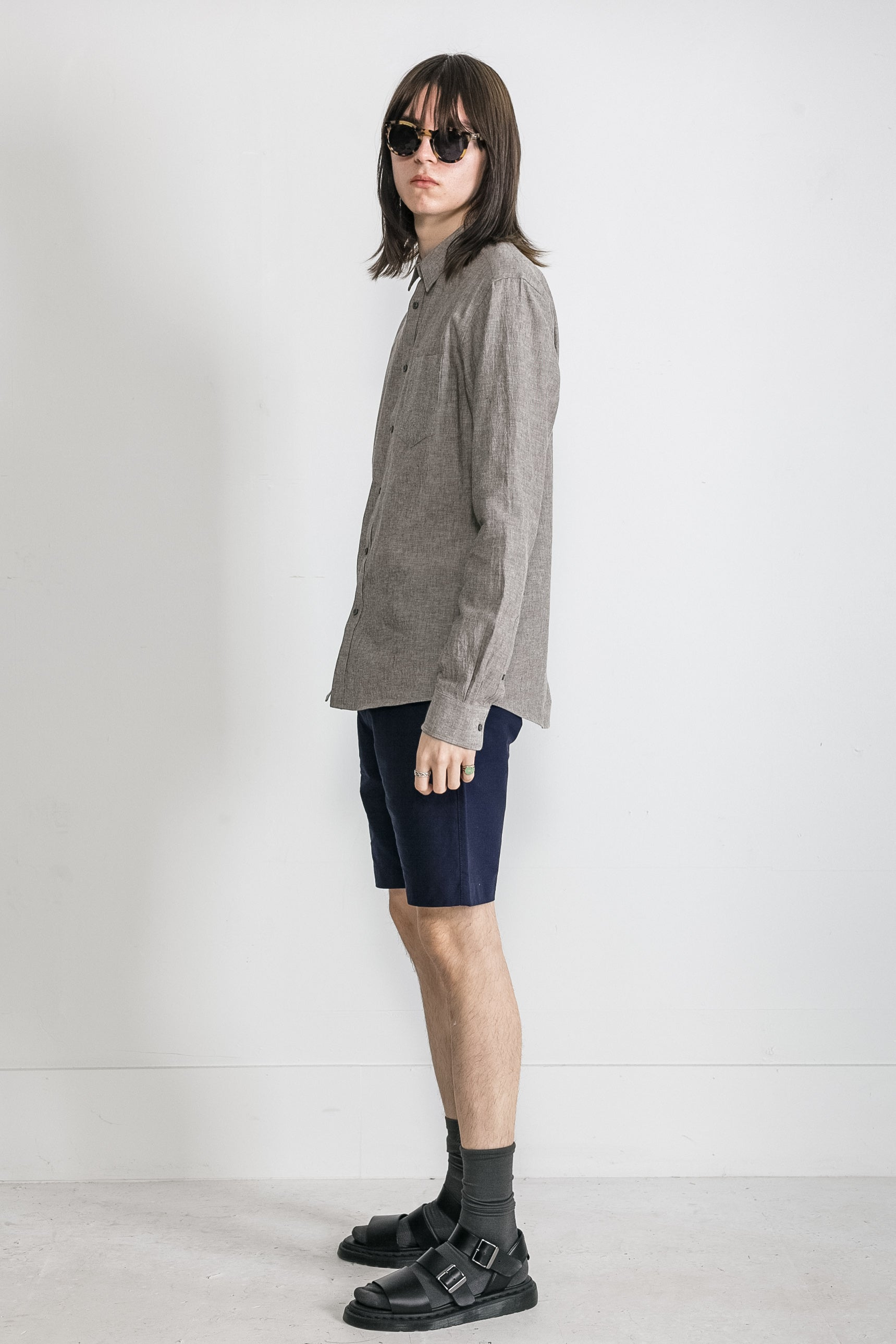 Japanese Dyed Canvas in Grey 003