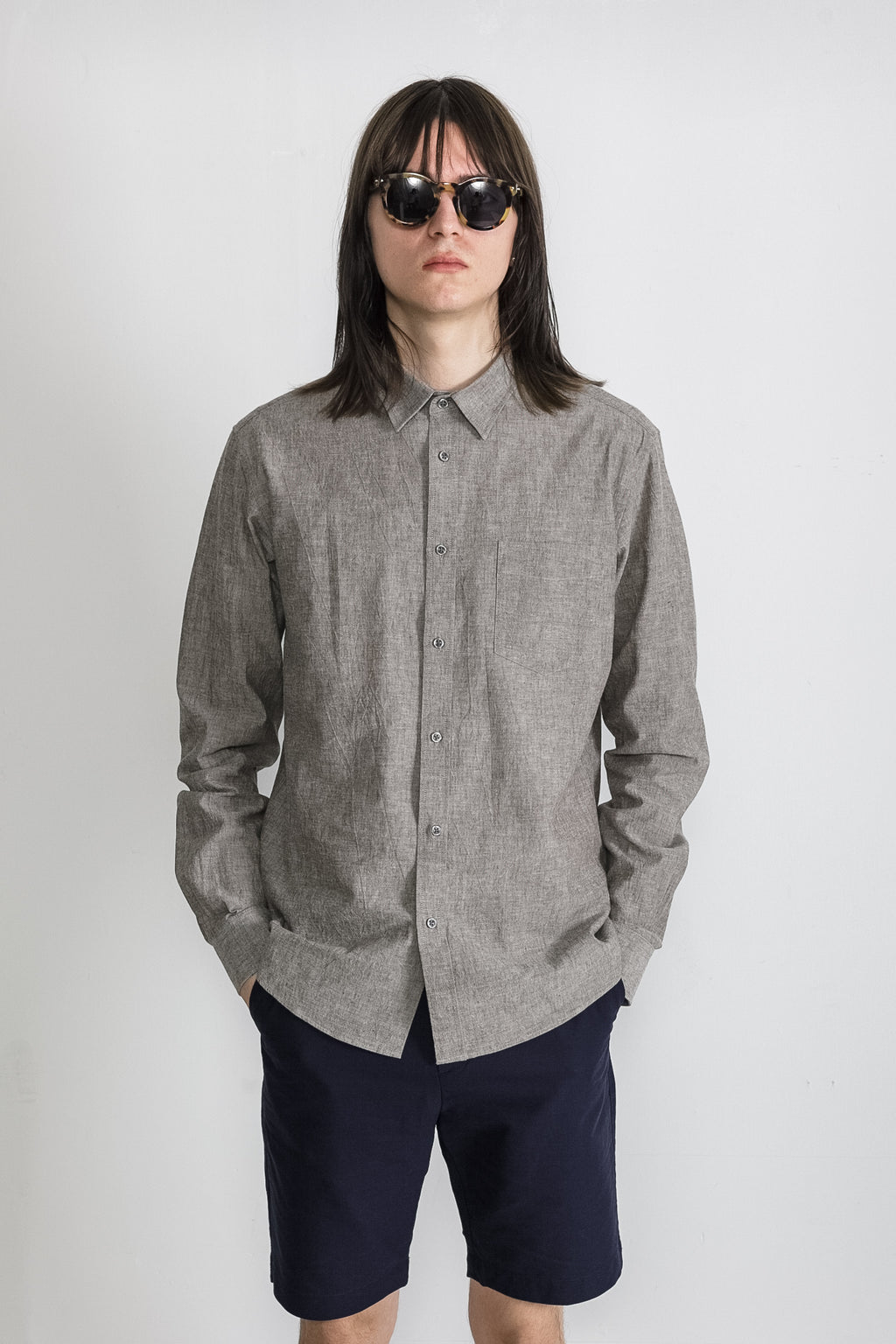 Japanese Dyed Canvas in Grey 001