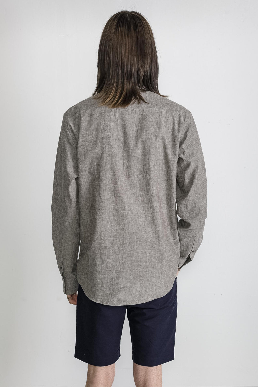 Japanese Dyed Canvas in Grey 004