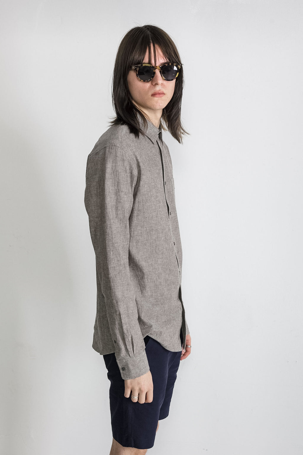 Japanese Dyed Canvas in Grey 006