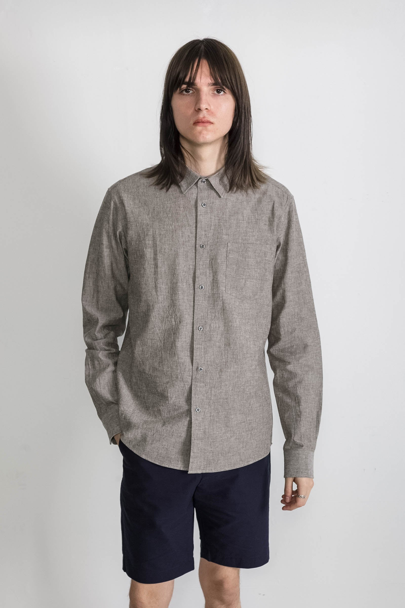 Japanese Dyed Canvas in Grey 005