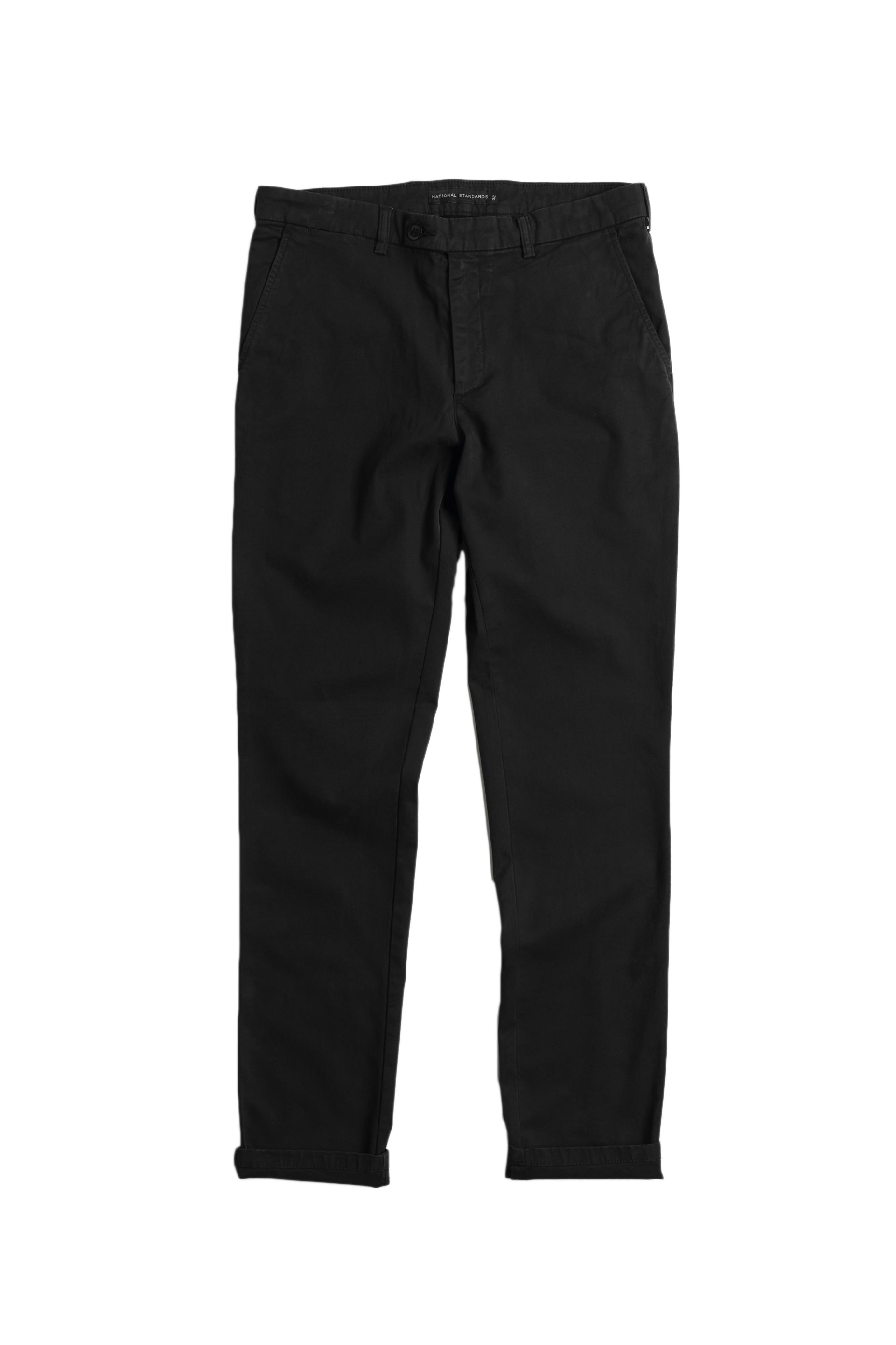 Stretch Chino Black Front