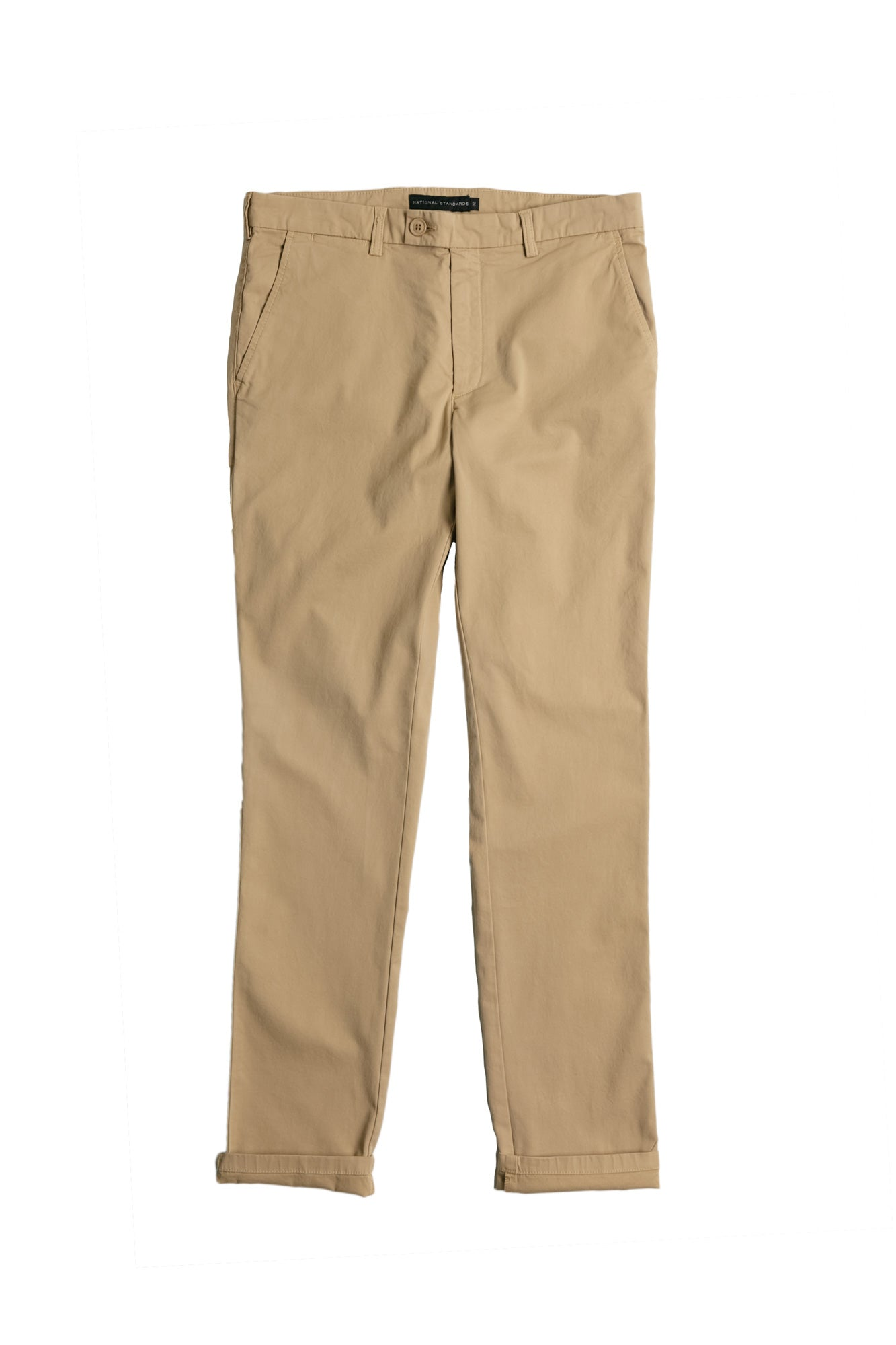 Stretch Chino in Khaki Front