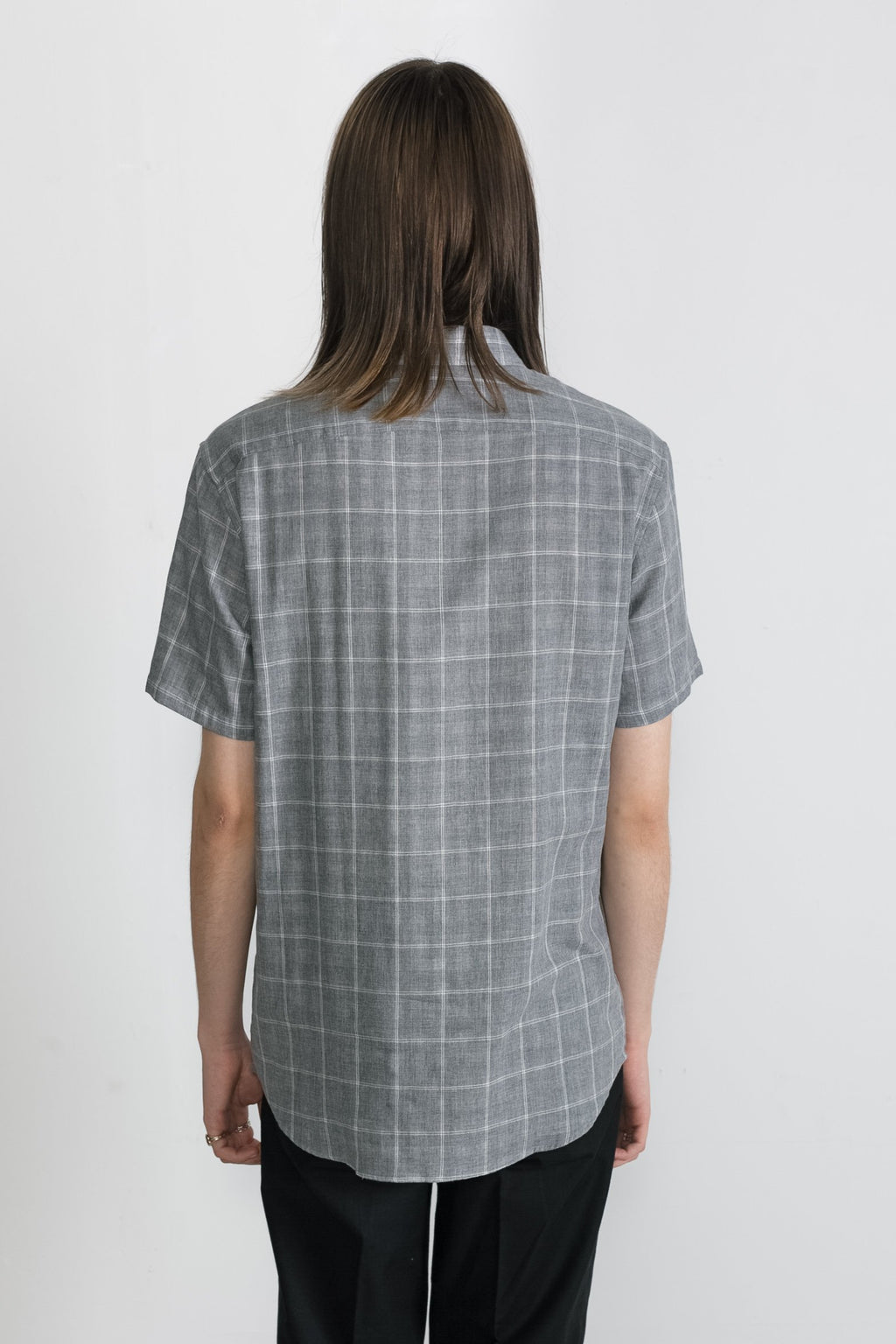 Japanese Double Face Plaid in Grey 006
