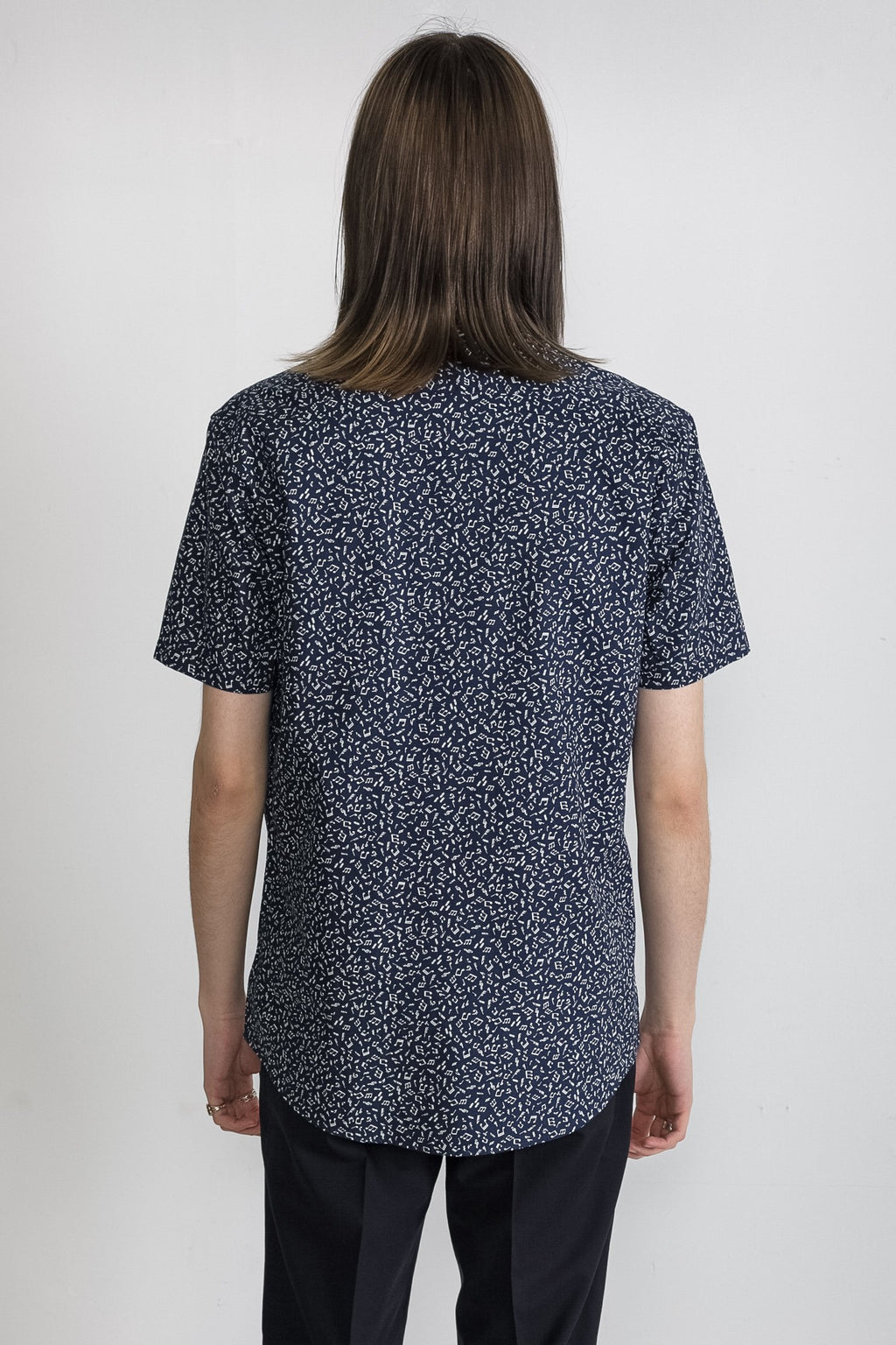 Japanese Musician Print in Navy 006