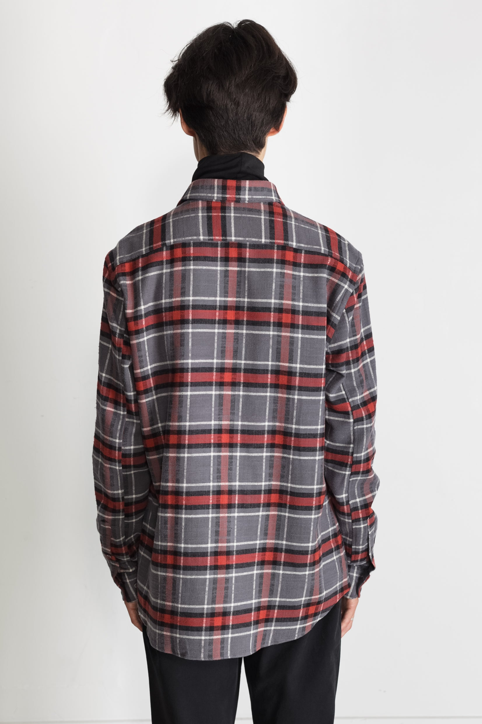 Japanese Cassidy Plaid in Grey and Rust 02