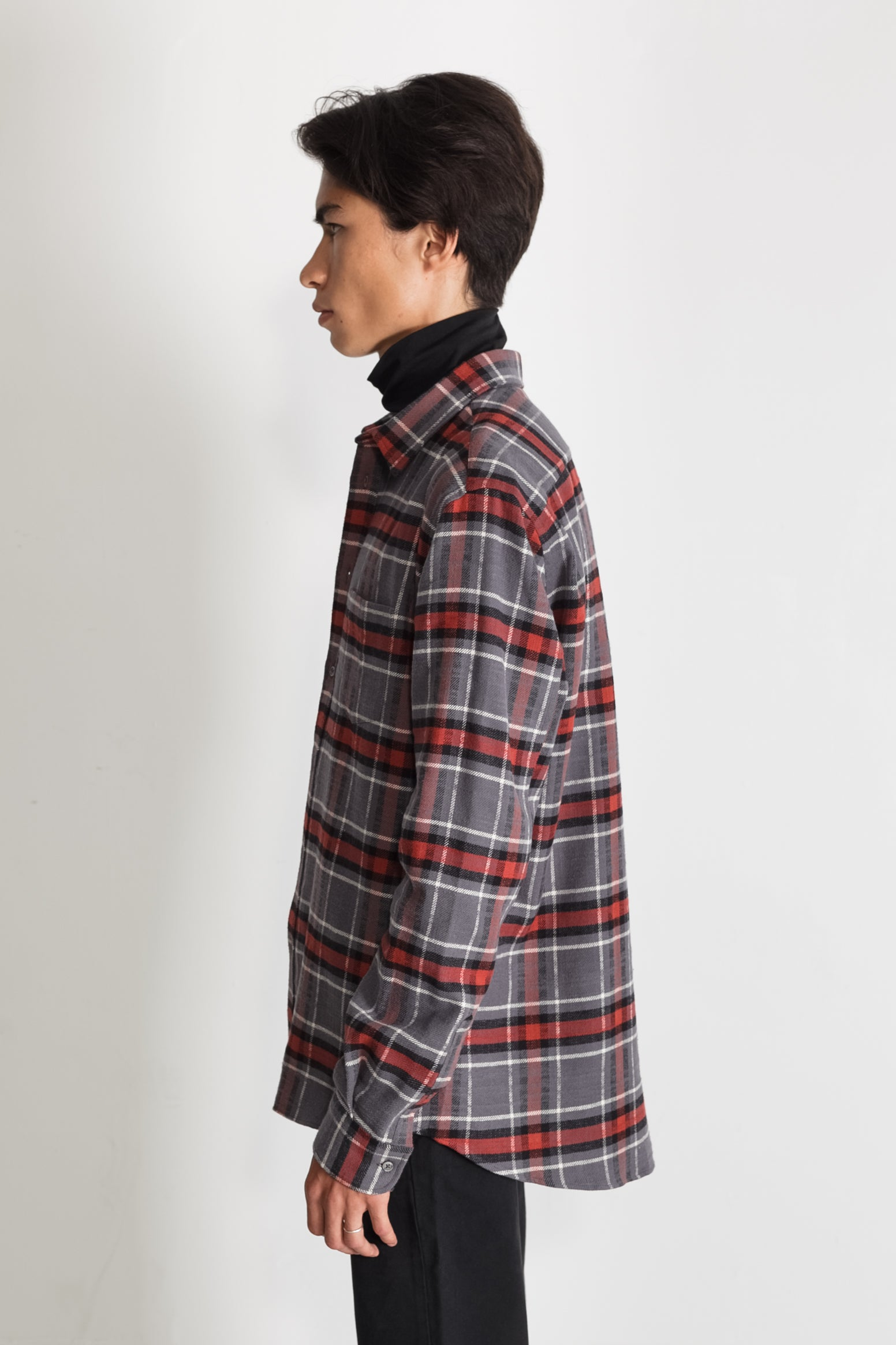 Japanese Cassidy Plaid in Grey and Rust 03