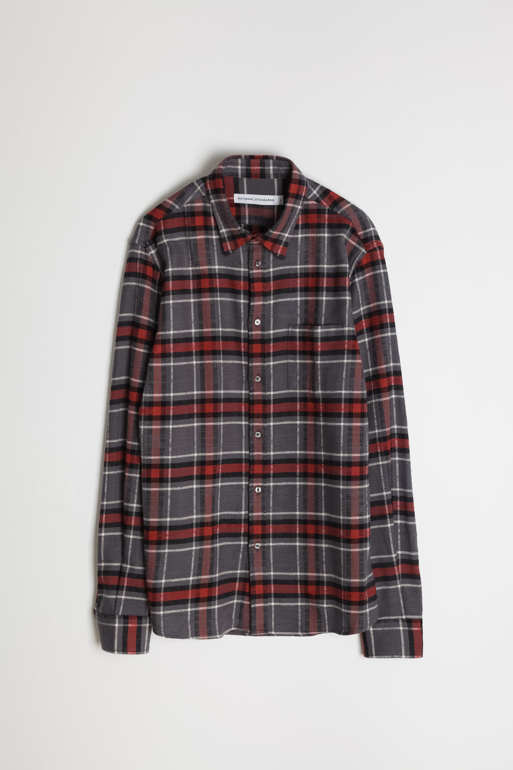 Japanese Cassidy Plaid in Grey and Rust 06
