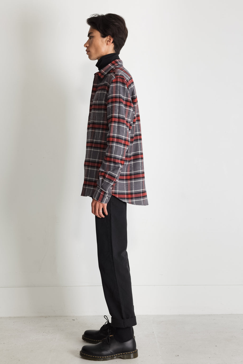 Japanese Cassidy Plaid in Grey and Rust 05