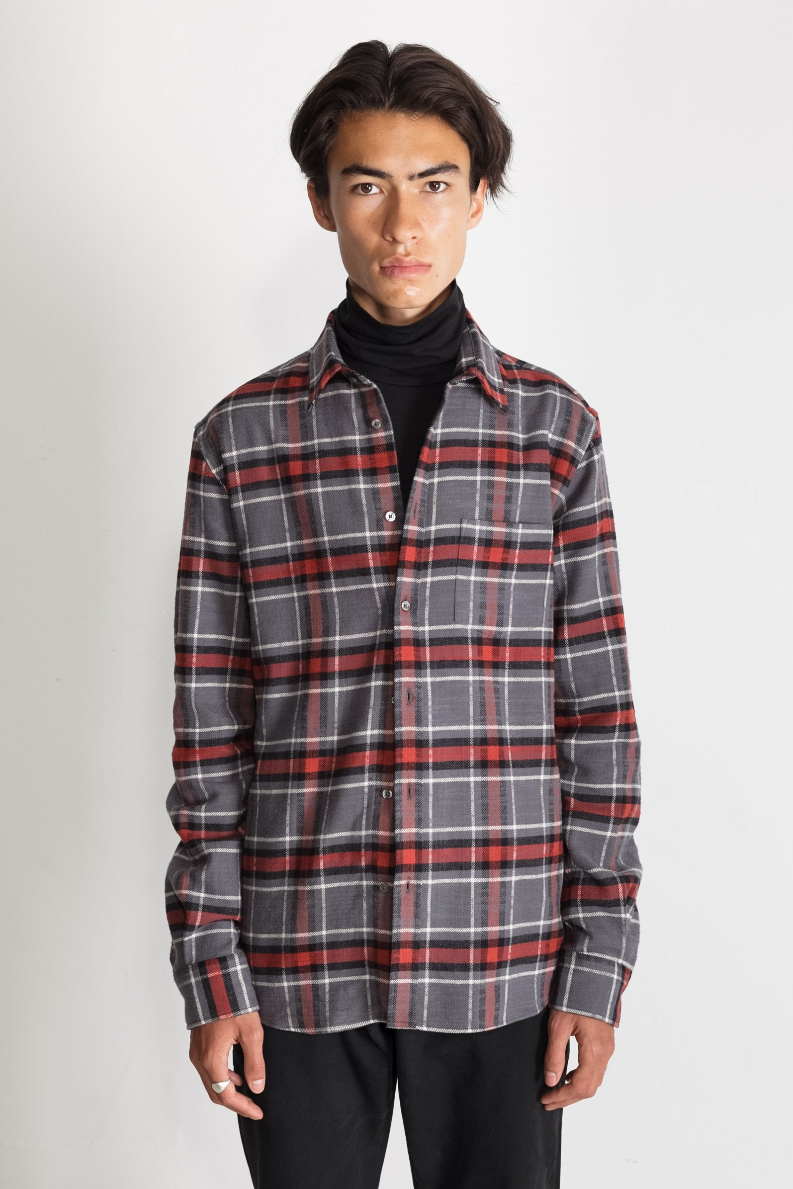 Japanese Cassidy Plaid in Grey and Rust 01