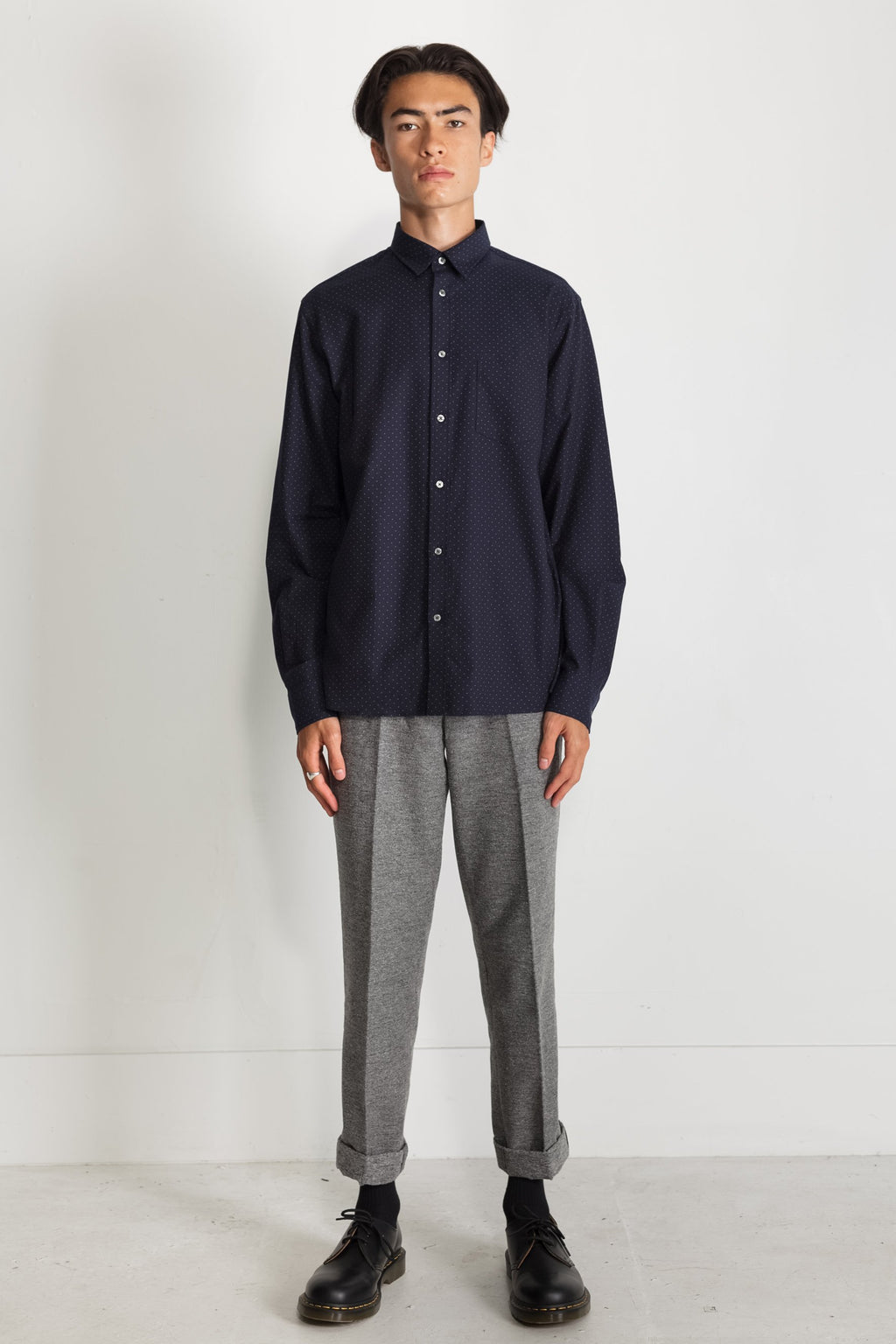 Japanese Dot Twill in Navy 01